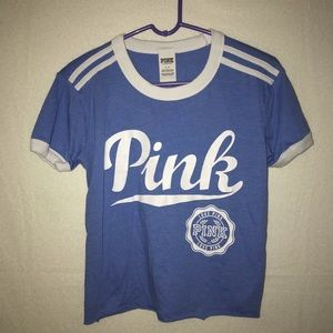 MOVING! MUST GO! VS PINK blue tee shirt